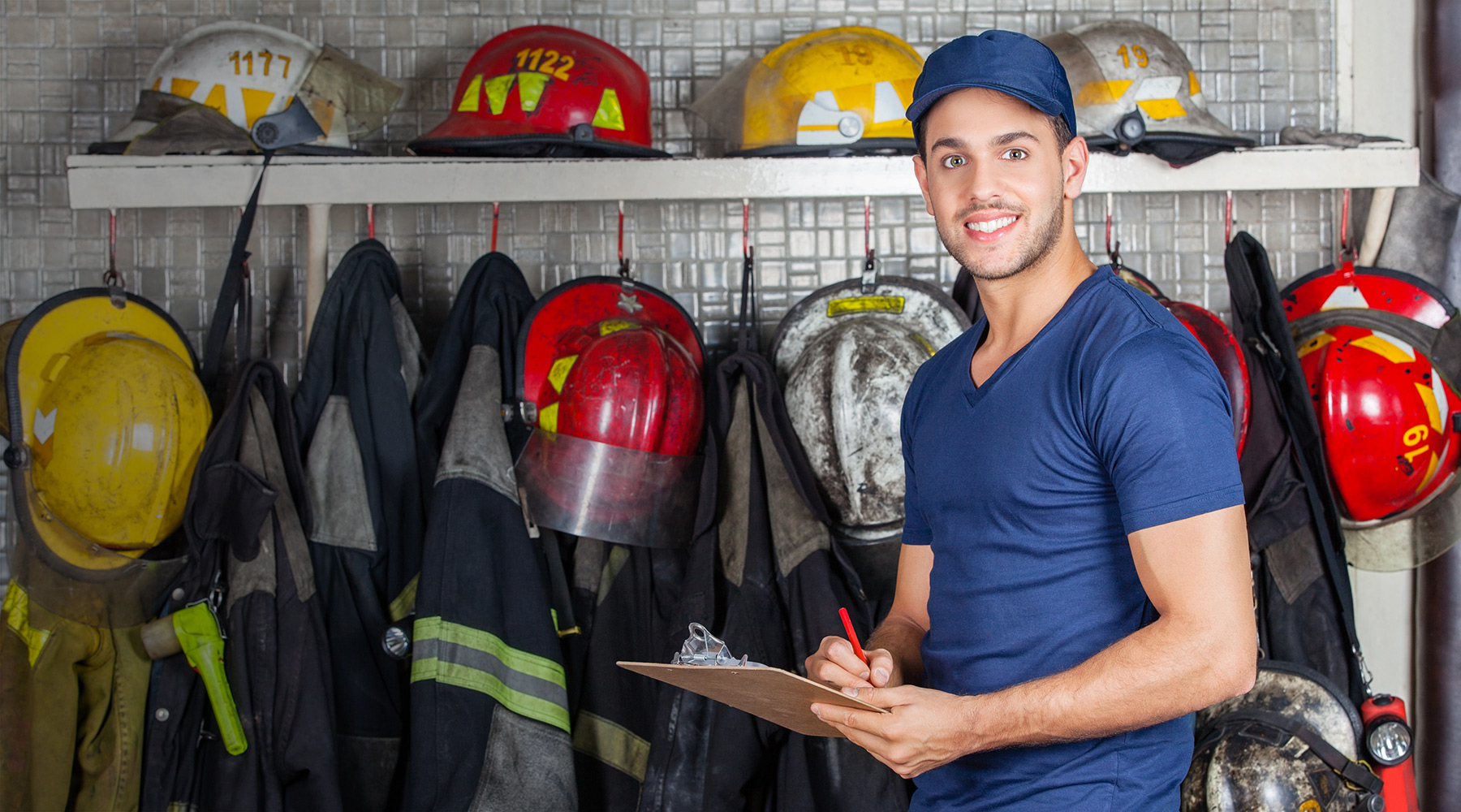 Cimara image of a firefighter holding a notepad